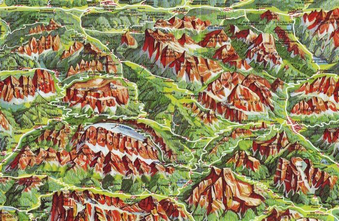 Mapa Dolomity Turisticka Mapa